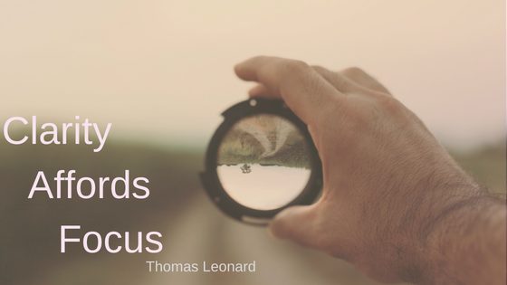 Clarity, what will you focus on?